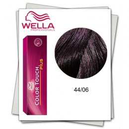 Vopsea fara Amoniac - Wella Professionals Color Touch Plus nuanta 44/06 violet saten mediu intens