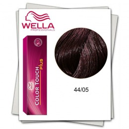 Vopsea fara Amoniac - Wella Professionals Color Touch Plus nuanta 44/05 castaniu mediu intens natural mahon