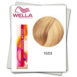 Vopsea fara Amoniac - Wella Professionals Color Touch nuanta 10/03 blond luminos deschis natural auriu