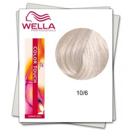 Vopsea fara Amoniac - Wella Professionals Color Touch nuanta 10/6 blond luminos deschis violet