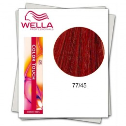 Vopsea fara Amoniac - Wella Professionals Color Touch nuanta 77/45 blond mediu intens roscat mahon