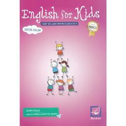 English for Kids - Clasa 4 - Caiet. Ed. 2017 - Elena Sticlea, editura Booklet