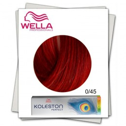 Vopsea Permanenta Mixton - Wella Professionals Koleston Perfect Special Mix nuanta 0/45 rosu mahon