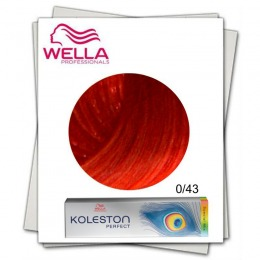 Vopsea Permanenta Mixton - Wella Professionals Koleston Perfect Special Mix nuanta 0/43 rosu auriu