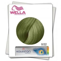 Vopsea Permanenta Mixton - Wella Professionals Koleston Perfect Special Mix nuanta 0/22 mat intens