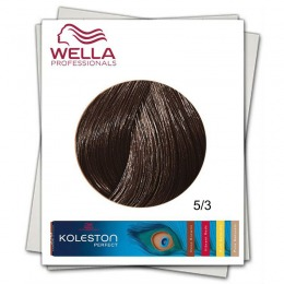 Vopsea Permanenta - Wella Professionals Koleston Perfect nuanta 5/3 castaniu deschis auriu