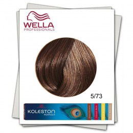 Vopsea Permanenta - Wella Professionals Koleston Perfect nuanta 5/73 castaniu deschis maro auriu