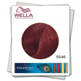 Vopsea Permanenta - Wella Professionals Koleston Perfect nuanta 55/46 castaniu deschis intens rosu violet