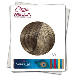 Vopsea Permanenta - Wella Professionals Koleston Perfect nuanta 6/1 blond inchis cenusiu