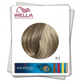Vopsea Permanenta - Wella Professionals Koleston Perfect nuanta 7/1 blond mediu cenusiu
