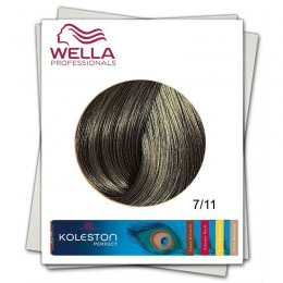 Vopsea Permanenta - Wella Professionals Koleston Perfect nuanta 7/11 blond mediu cenusiu intens