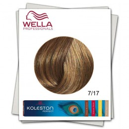 Vopsea Permanenta - Wella Professionals Koleston Perfect nuanta 7/17 blond mediu cenusiu castaniu
