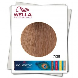 Vopsea Permanenta - Wella Professionals Koleston Perfect nuanta 7/38 blond mediu auriu albastrui