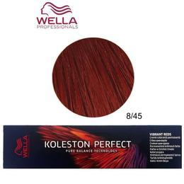 Vopsea Crema Permanenta – Wella Professionals Koleston Perfect Vibrant Reds, nuanta 8/45 Blond Deschis Intens Rosu Mahon de la esteto.ro