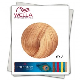 Vopsea Permanenta - Wella Professionals Koleston Perfect nuanta 9/73 blond luminos castaniu roscat