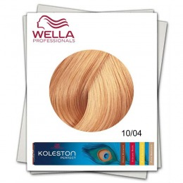 Vopsea Permanenta - Wella Professionals Koleston Perfect nuanta 10/04 blond luminos cald