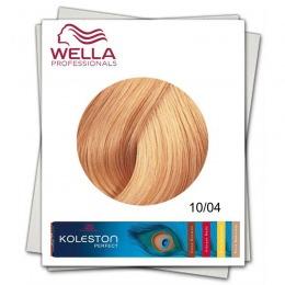 Vopsea Permanenta - Wella Professionals Koleston Perfect nuanta 10/04 blond luminos cald