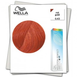 Vopsea Permanenta Mixton - Wella Professionals Koleston Perfect Innosense nuanta 0/43 rosu auriu