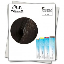 Vopsea Permanenta - Wella Professionals Koleston Perfect Innosense nuanta 4/17 cenusiu mediu brunet castaniu