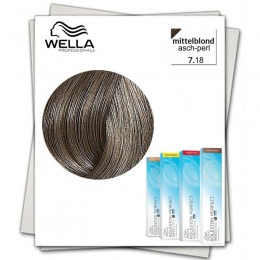 Vopsea Permanenta - Wella Professionals Koleston Perfect Innosense nuanta 7/18 blond mediu cenusiu perlat