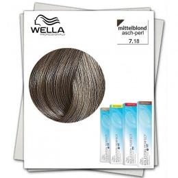 Vopsea Permanenta - Wella Professionals Koleston Perfect Innosense nuanta 7/18 blond mediu cenusiu perlat