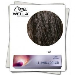 Vopsea Permanenta - Wella Professionals Illumina Color Nuanta 4/ castaniu mediu