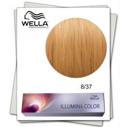 Vopsea Permanenta - Wella Professionals Illumina Color Nuanta 8/37 blond deschis auriu castaniu