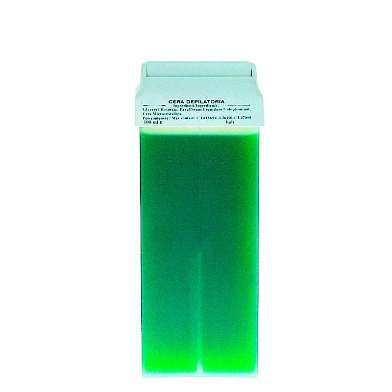 Cartus Ceara Epilat Unica Folosinta Azulena - Prima Liposoluble Classic Wax Green With Applicator 100 gr imagine produs