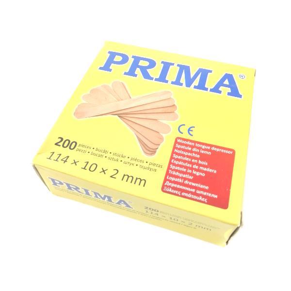 Spatule Lemn Mici Neambalate - Prima Wooden Spatules, 200 buc imagine produs