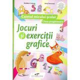 Jocuri si exercitii grafice - Clasa pregatitoare - Caiet+marker+buretel+tablita - Nicoleta Ciobanu, editura Cd Press