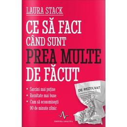 Ce sa faci cand sunt prea multe de facut - Laura Stack, editura Amaltea