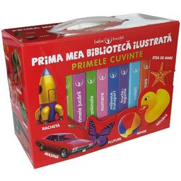 Prima Mea Biblioteca Ilustrata: Primele Cuvinte. Bebe Invata (cutie Cu 8 Carticele)