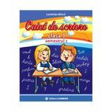 Caiet se scriere cls 1 Semestrul 2 (cd) - Luminita Minca, editura Carminis