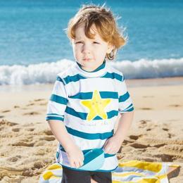 Tricou cu protecție solară Sea World Colors talia 2 - Eurekakids