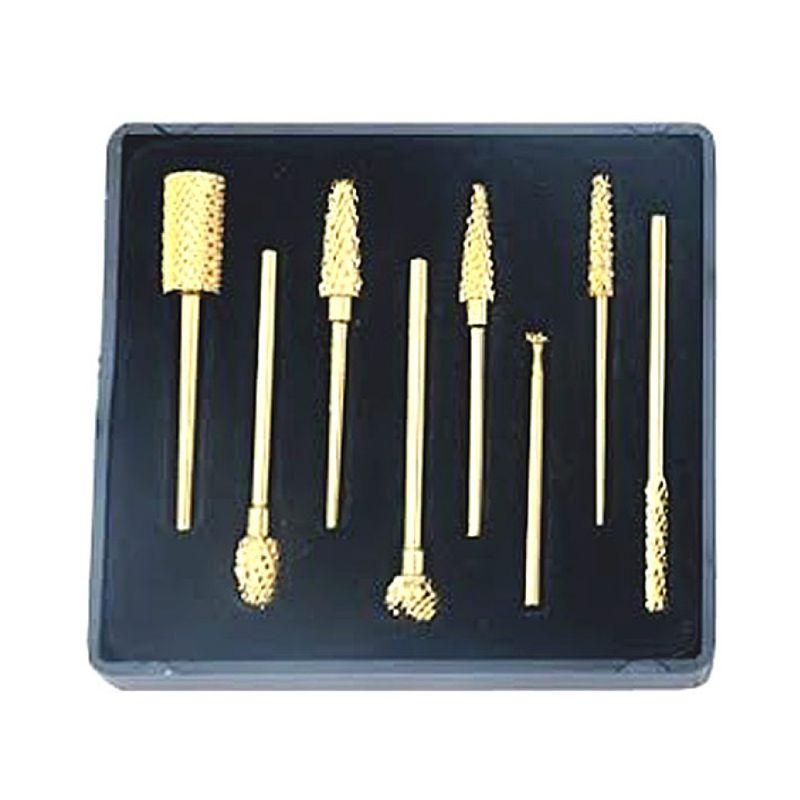 Freze Diamantate Capete Aurite - Prima Golden-Plated Diamond Nail Drills Bits with Tungsten Carbide Heads esteto.ro