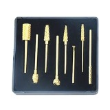 Freze Diamantate Capete Aurite - Prima Golden-Plated Diamond Nail Drills Bits with Tungsten Carbide Heads