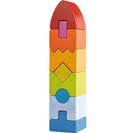 Joc de stivuire din lemn Turn Geometric- Haba