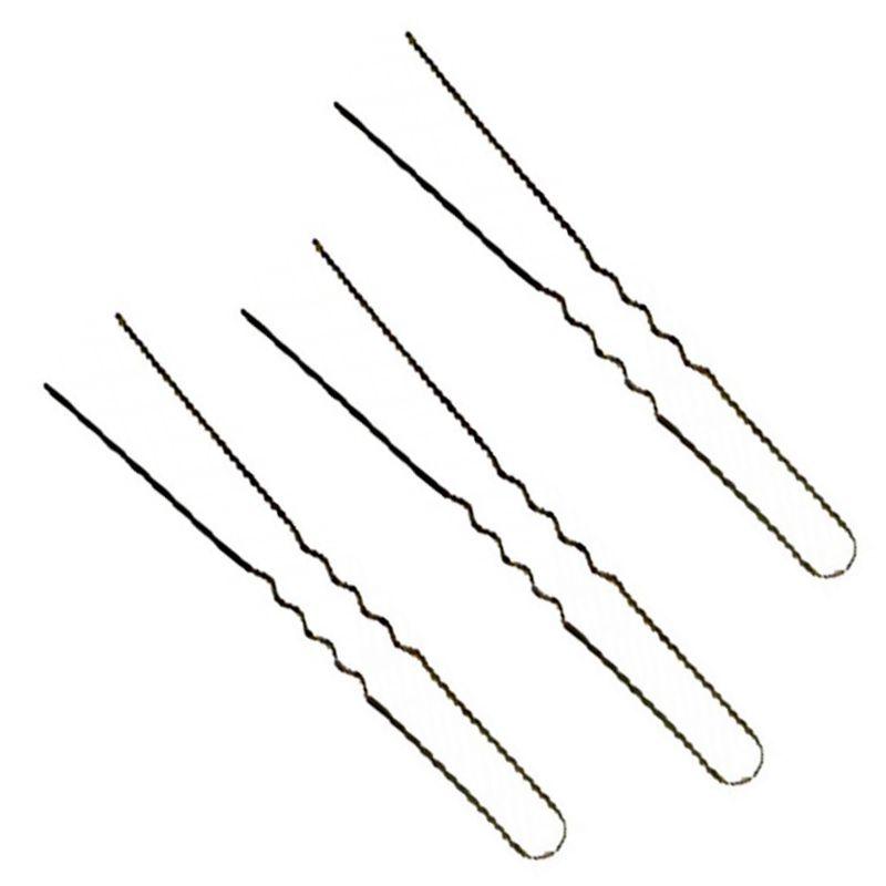 Ace Par Ondulate Negre - Prima Ball Pointed Hair Pins Waved 55 mm imagine produs