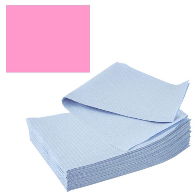 Bavete-Campuri Cosmetice Roz - Prima PE and Paper Medical Towel Tissue 33 x 45 cm