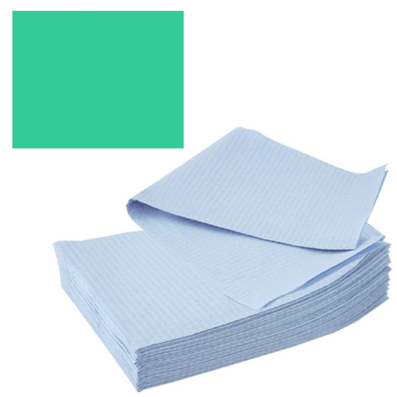 Bavete-Campuri Cosmetice Verzi - Prima PE and Paper Medical Towel Tissue 33 x 45 cm