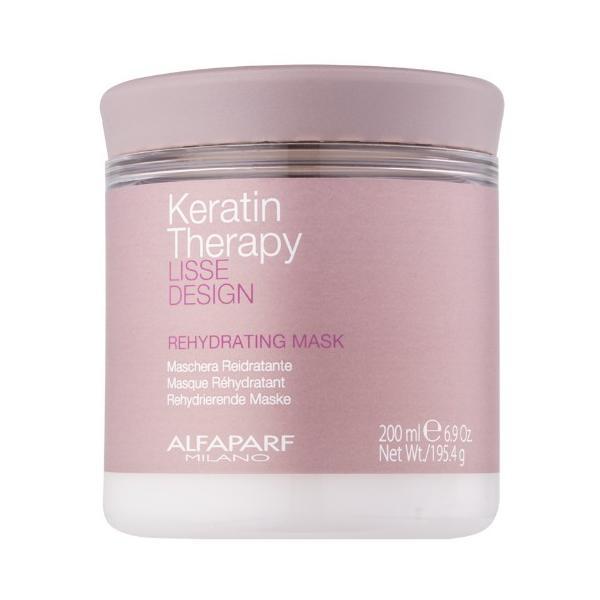 Masca Rehidratanta pentru Netezire - Alfaparf Milano Keratin Therapy Lisse Design Rehydrating Mask, 200ml esteto.ro