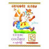 Citesc si colorez cu autocolante: Gasca - Grigore Vieru