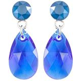 Cercei Crystal-Fashion cu cristale Swarovski ,Xirius-Pear gl 2,5cm RoyalBlue - Majestic Blue