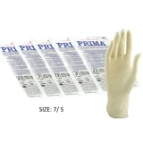 Manusi Chirurgicale Sterile Latex Usor Pudrate Marimea S - Prima Sterile Latex Surgical Light Powered Gloves 7, 2 buc