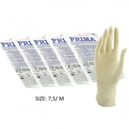 Manusi Sterile Usor Pudrate Marimea M Prima Sterile Latex Surgical Light Powered Gloves 7 5