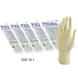 Manusi Chirurgicale Sterile Latex Usor Pudrate Marimea L - Prima Sterile Latex Surgical Light Powered Gloves 8, 2 buc