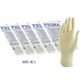 Manusi Sterile Usor Pudrate Marimea L Prima Sterile Latex Surgical Light Powered Gloves 8