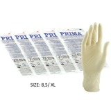 Manusi Chirurgicale Sterile Latex Usor Pudrate Marimea XL - Prima Sterile Latex Surgical Light Powered Gloves 8.5, 2 buc