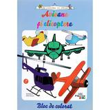 Avioane si elicoptere - Bloc de colorat, editura Prestige