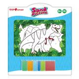 Set pictura cu nisip Orange Elephant, Dino2